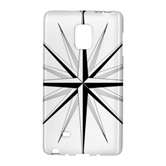 Compase Star Rose Black White Galaxy Note Edge by Mariart
