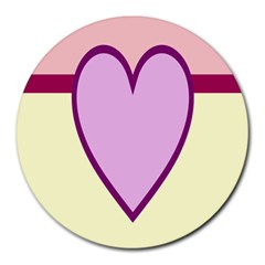 Cute Gender Gendercute Flags Love Heart Line Valentine Round Mousepads by Mariart