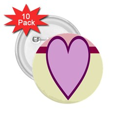 Cute Gender Gendercute Flags Love Heart Line Valentine 2 25  Buttons (10 Pack)