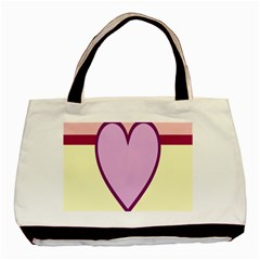 Cute Gender Gendercute Flags Love Heart Line Valentine Basic Tote Bag (two Sides) by Mariart
