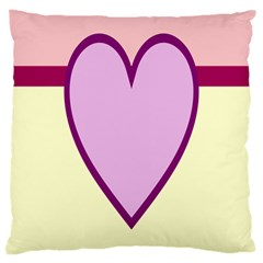 Cute Gender Gendercute Flags Love Heart Line Valentine Large Cushion Case (two Sides) by Mariart