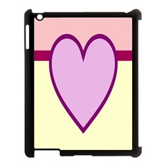 Cute Gender Gendercute Flags Love Heart Line Valentine Apple Ipad 3/4 Case (black) by Mariart