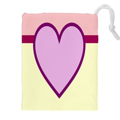 Cute Gender Gendercute Flags Love Heart Line Valentine Drawstring Pouches (xxl) by Mariart