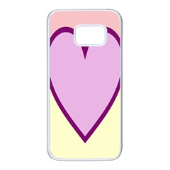 Cute Gender Gendercute Flags Love Heart Line Valentine Samsung Galaxy S7 White Seamless Case by Mariart