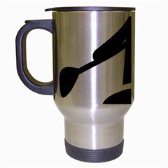Cropped Kayak Graphic Race Paddle Black Water Sea Wave Beach Travel Mug (silver Gray) by Mariart