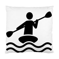 Cropped Kayak Graphic Race Paddle Black Water Sea Wave Beach Standard Cushion Case (two Sides) by Mariart
