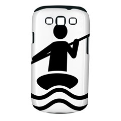Cropped Kayak Graphic Race Paddle Black Water Sea Wave Beach Samsung Galaxy S Iii Classic Hardshell Case (pc+silicone) by Mariart