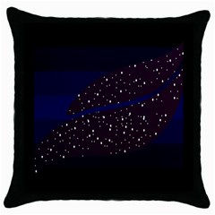 Contigender Flags Star Polka Space Blue Sky Black Brown Throw Pillow Case (black) by Mariart