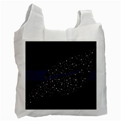 Contigender Flags Star Polka Space Blue Sky Black Brown Recycle Bag (one Side) by Mariart