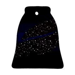 Contigender Flags Star Polka Space Blue Sky Black Brown Bell Ornament (two Sides) by Mariart