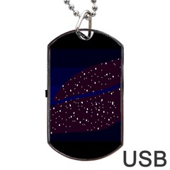 Contigender Flags Star Polka Space Blue Sky Black Brown Dog Tag Usb Flash (two Sides) by Mariart