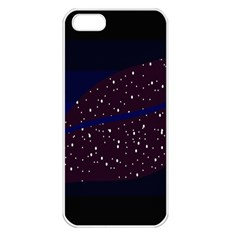 Contigender Flags Star Polka Space Blue Sky Black Brown Apple Iphone 5 Seamless Case (white) by Mariart