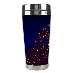 Contigender Flags Star Polka Space Blue Sky Black Brown Stainless Steel Travel Tumblers by Mariart