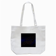 Contigender Flags Star Polka Space Blue Sky Black Brown Tote Bag (white) by Mariart