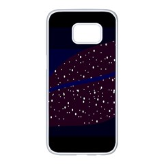 Contigender Flags Star Polka Space Blue Sky Black Brown Samsung Galaxy S7 Edge White Seamless Case by Mariart