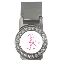 Deep Clean Bubbel Door Pink Polka Circle Money Clips (cz)  by Mariart