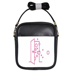Deep Clean Bubbel Door Pink Polka Circle Girls Sling Bags