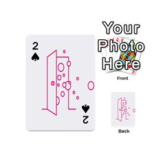 Deep Clean Bubbel Door Pink Polka Circle Playing Cards 54 (mini)  by Mariart