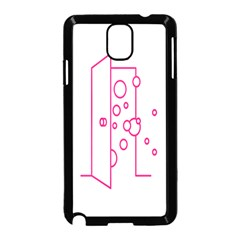Deep Clean Bubbel Door Pink Polka Circle Samsung Galaxy Note 3 Neo Hardshell Case (black) by Mariart
