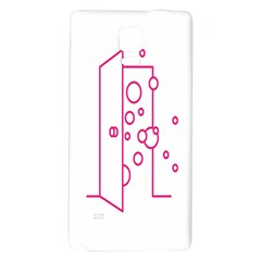 Deep Clean Bubbel Door Pink Polka Circle Galaxy Note 4 Back Case by Mariart