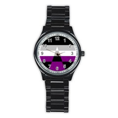 Dissexual Flag Stainless Steel Round Watch by Mariart