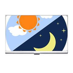 Day Night Moon Stars Cloud Stars Business Card Holders by Mariart