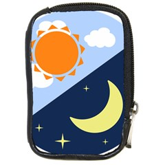 Day Night Moon Stars Cloud Stars Compact Camera Cases by Mariart