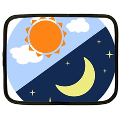 Day Night Moon Stars Cloud Stars Netbook Case (xl)  by Mariart