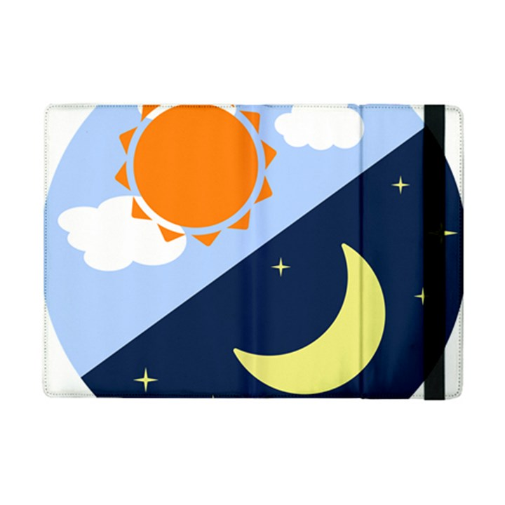 Day Night Moon Stars Cloud Stars iPad Mini 2 Flip Cases