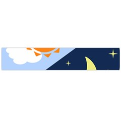 Day Night Moon Stars Cloud Stars Flano Scarf (large) by Mariart
