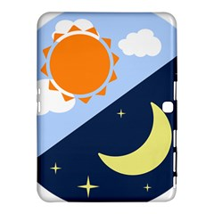 Day Night Moon Stars Cloud Stars Samsung Galaxy Tab 4 (10 1 ) Hardshell Case  by Mariart