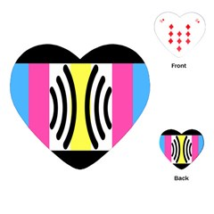 Echogender Flags Dahsfiq Echo Gender Playing Cards (heart)  by Mariart