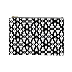 Dark Horse Playing Card Black White Cosmetic Bag (large)  by Mariart