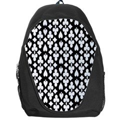 Dark Horse Playing Card Black White Backpack Bag by Mariart