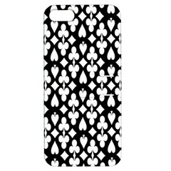 Dark Horse Playing Card Black White Apple Iphone 5 Hardshell Case With Stand by Mariart