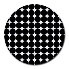 Dotted Pattern Png Dots Square Grid Abuse Black Round Mousepads by Mariart