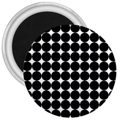 Dotted Pattern Png Dots Square Grid Abuse Black 3  Magnets by Mariart