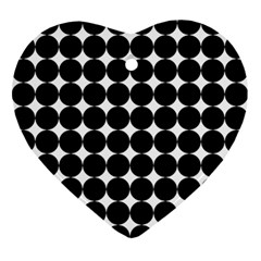 Dotted Pattern Png Dots Square Grid Abuse Black Ornament (heart)