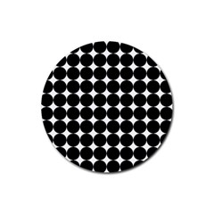 Dotted Pattern Png Dots Square Grid Abuse Black Rubber Round Coaster (4 Pack)  by Mariart