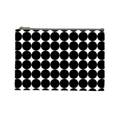 Dotted Pattern Png Dots Square Grid Abuse Black Cosmetic Bag (large)