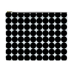 Dotted Pattern Png Dots Square Grid Abuse Black Cosmetic Bag (xl) by Mariart