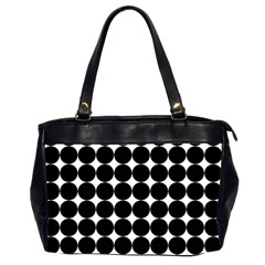 Dotted Pattern Png Dots Square Grid Abuse Black Office Handbags (2 Sides)  by Mariart