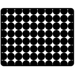 Dotted Pattern Png Dots Square Grid Abuse Black Fleece Blanket (medium)  by Mariart