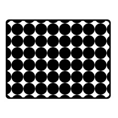 Dotted Pattern Png Dots Square Grid Abuse Black Fleece Blanket (small) by Mariart