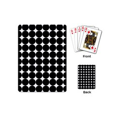 Dotted Pattern Png Dots Square Grid Abuse Black Playing Cards (mini)  by Mariart