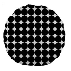 Dotted Pattern Png Dots Square Grid Abuse Black Large 18  Premium Round Cushions by Mariart