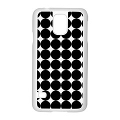 Dotted Pattern Png Dots Square Grid Abuse Black Samsung Galaxy S5 Case (white) by Mariart