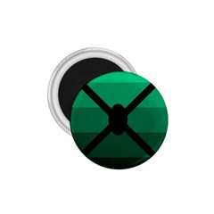 Fascigender Flags Line Green Black Hole Polka 1 75  Magnets by Mariart