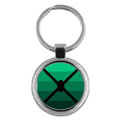 Fascigender Flags Line Green Black Hole Polka Key Chains (round)  by Mariart