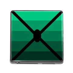 Fascigender Flags Line Green Black Hole Polka Memory Card Reader (square) by Mariart